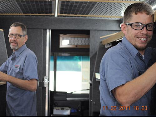 Truck upfitting services team